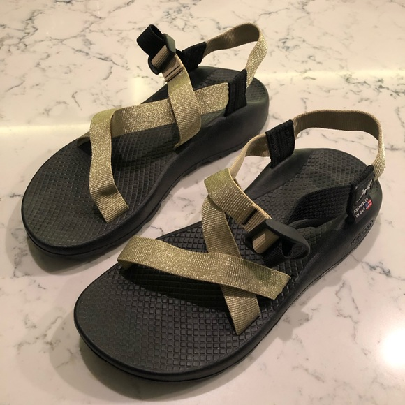 960664c2f45 Chaco Shoes - Glittery Gold Z Cloud Chaco Sandals
